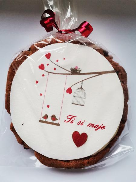 PIŠKOT LJUBEZNI - ameriški piškot s koščki čokolade (100g)