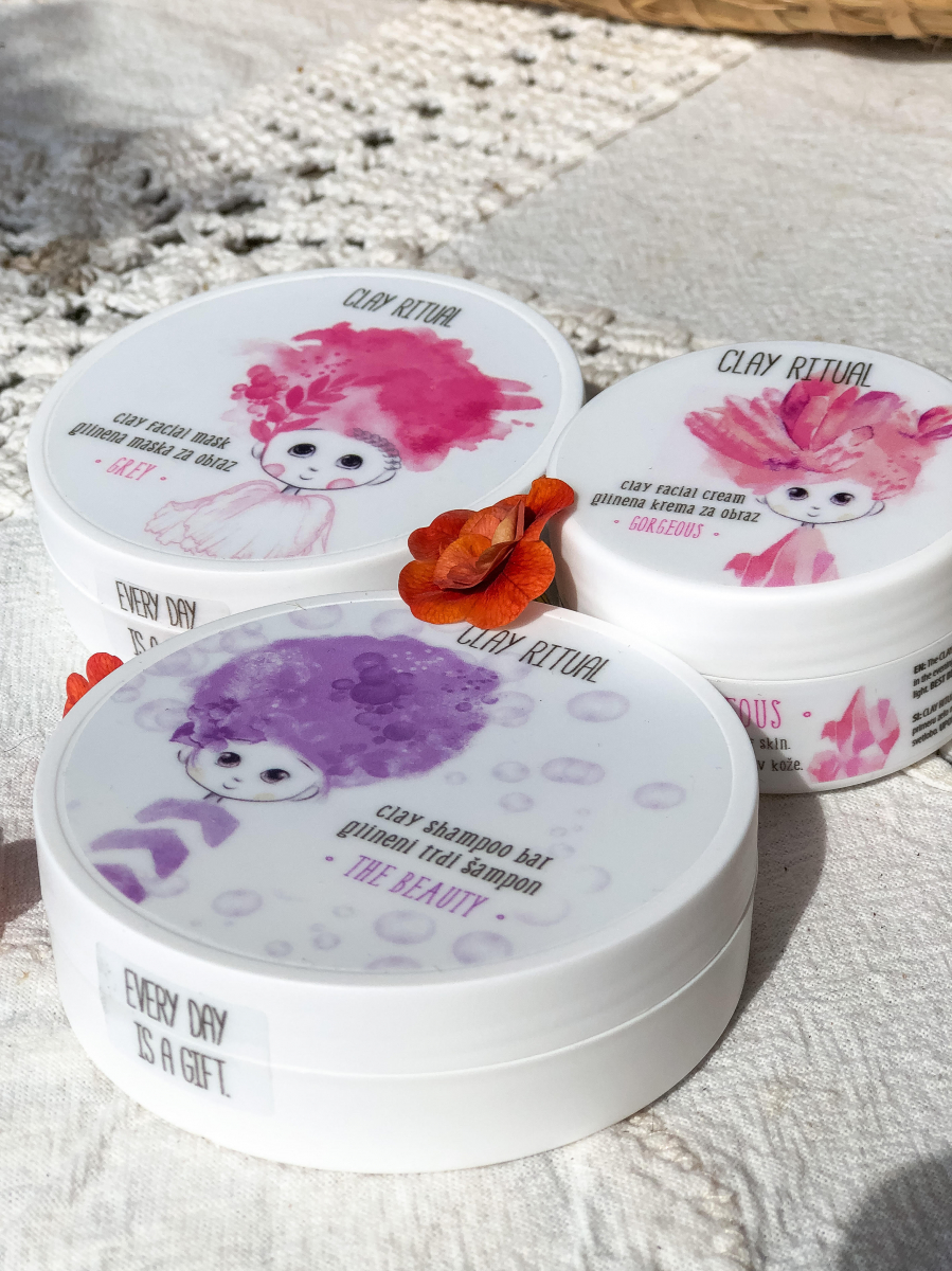 Clay Ritual glineni trdi balzam za lase SILKY (50g)
