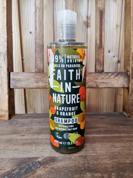 Faith in Nature šampon za mastne lase grenivka in pomaranča (400ml)